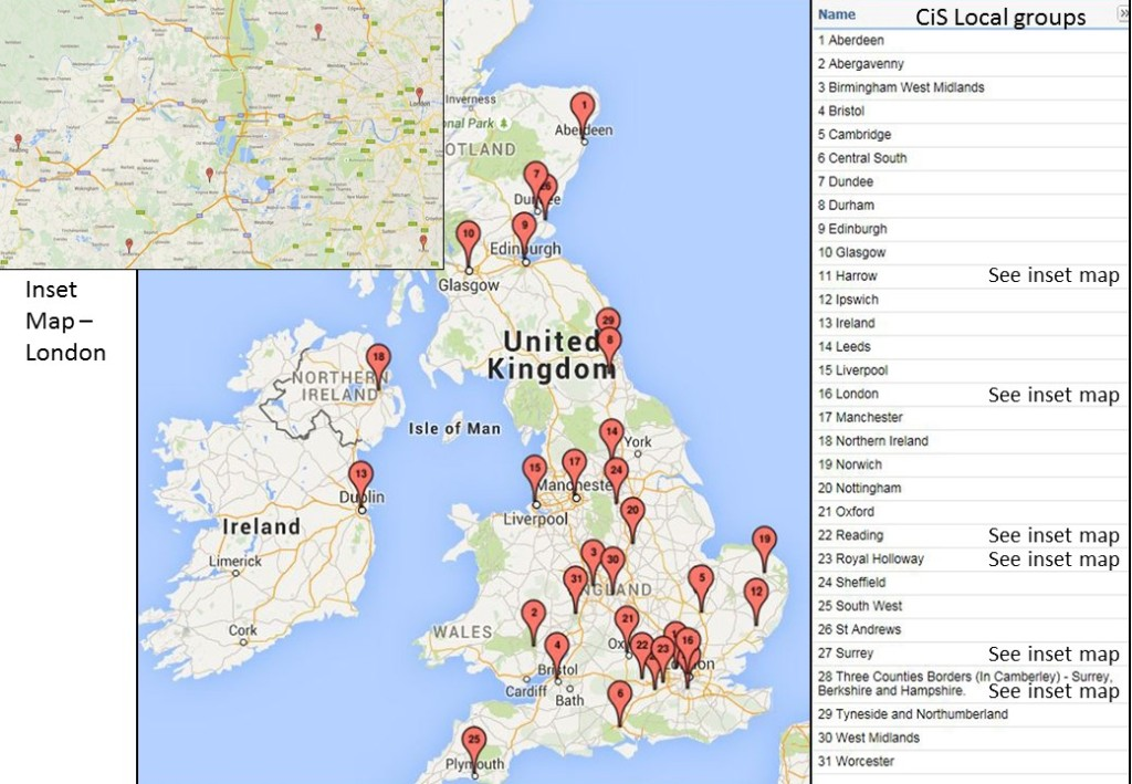 UK local groups map